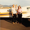 Feb. 26, 1981<br /> Phoenix, AZ<br /> Teresa's 2nd birthday<br /> Bob, Teresa, & Vickie at airport in fron of dad Meakin's plane.