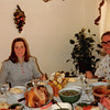 Nov. 27, 1980<br /> 1104 W. 680 S. Orem, UT<br /> our first Thanksgiving dinner<br /> Vickie, Daddy, & Mommy
