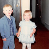 April 1981<br /> Johnny & Teresa Meakin (cousins) holding hands at Joe & Jeanne's house in Kearns, UT