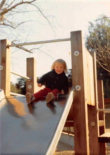 March 1981<br /> Shoup Park in Los Altos, CA<br /> Tesa (2 years old)