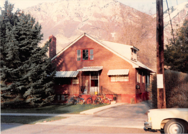 Picture taken April 1981<br /> Bob lived here (658 N. 400 E. #8) before we got married.<br /> Sept. 1977 to April 1978.<br /> This is where he lived when I met him.