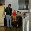 March 1981<br /> 1484 S. 400 E., Orem, UT<br /> Teresa helping daddy with the dishes.