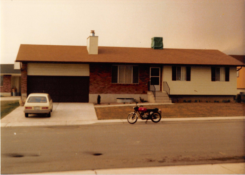 Feb. 1981<br /> 1104 W. 680 S. Orem, UT<br /> Our first house--cost $57,500 in Sept. 1979.