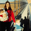 February 1981<br /> Glen Canyon Dam site on bridge<br /> Craig, Vickie & Teresa