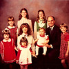 Christmas 1980<br /> Spencer family<br /> L to R--Darcy, Jennifer, Heather, Janean, Heidi, Kiersten, Natalie, Dick, & Rachel