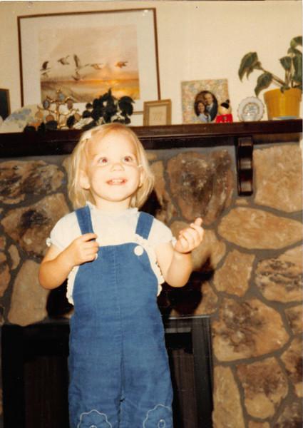 November 1980<br /> 1104 W. 680 S., Orem, UT<br /> Teresa Meakin (20 months old)