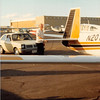 Feb. 26, 1981<br /> Phoenix, AZ<br /> Bob next to Grandpa Meakin's airplane.
