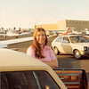 Feb. 26, 1981<br /> Phoenix, AZ<br /> Vickie at airport in AZ