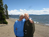Elaine Mendoza and her partner Colin Wavell at Yellowstone Lake, Wyoming June 2012.