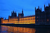 British Parliament from the Thames.