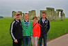 The entire family at Stonehenge!