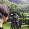 2013 APR 01 Heritage Gardens, Kepaniwai Park, Maui, Hawaii, Self Portrait.