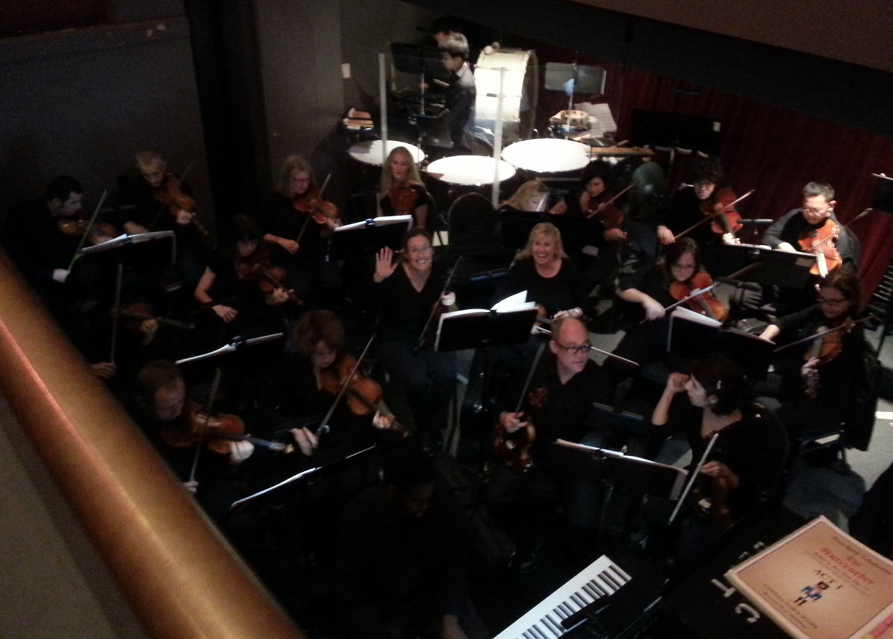 In the orchestra pit, final performance of The Nutcracker with San Diego Ballet.