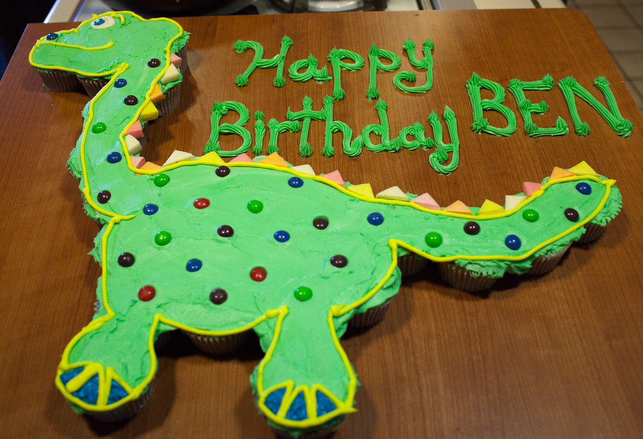 Ben's dinosaur birthday cake