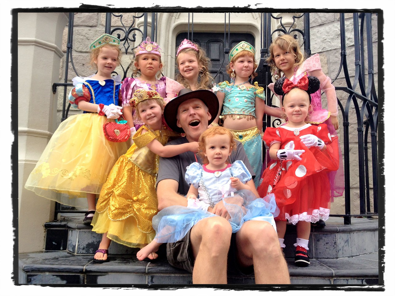 Baldy & the princesses at Disneyworld 2012