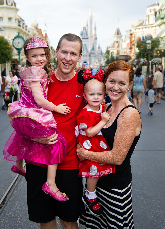 Mark, Meghan, Reese, Zoe at Disneyworld