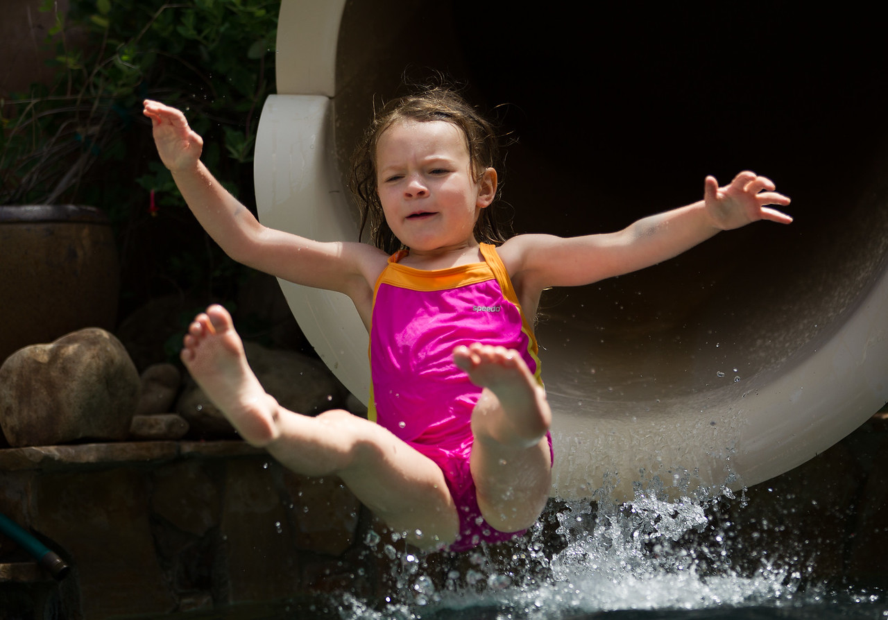 Reese slides at the Ever After Estate