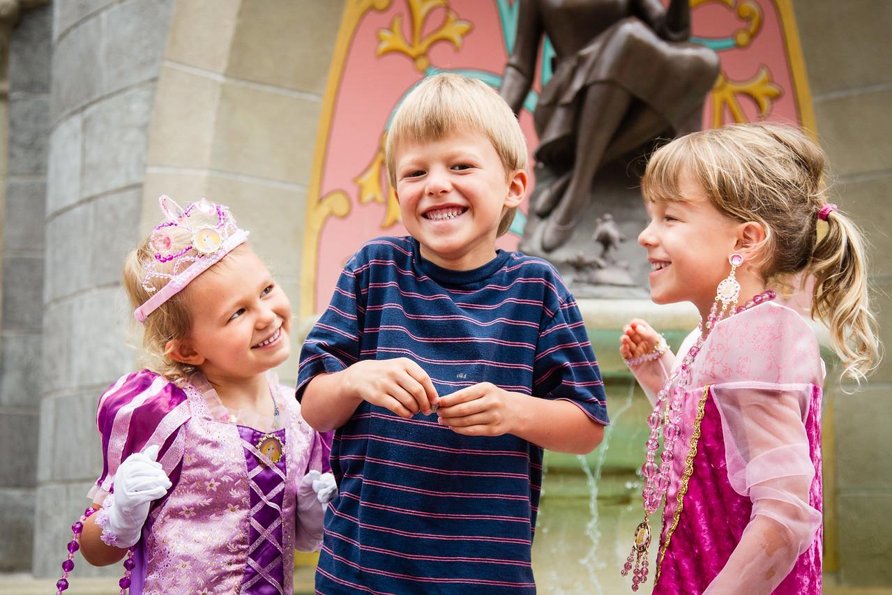 Princesses Audrey and Leia with Sir Logan