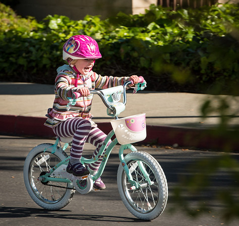 Evie learns to bike 2013