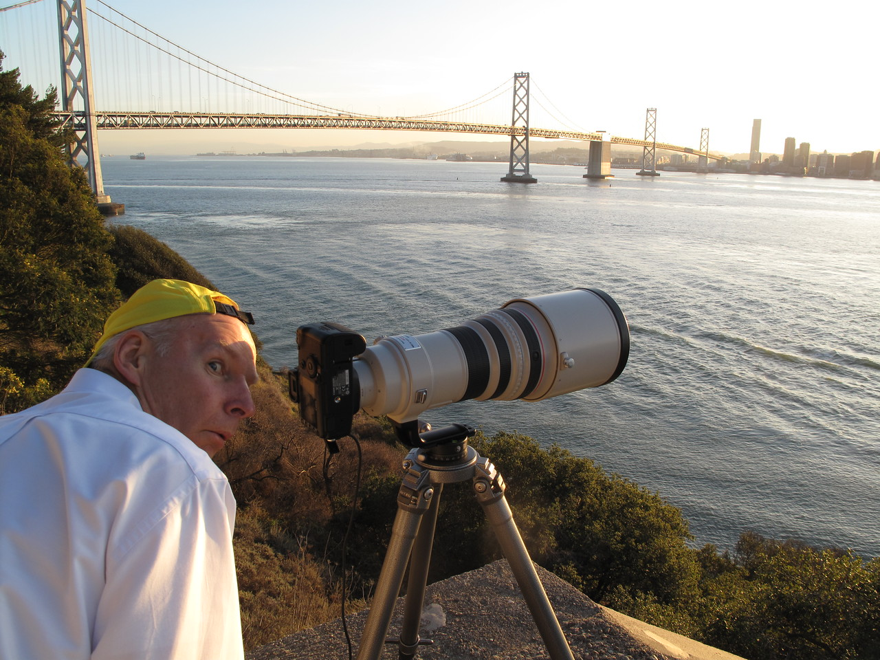 Shooting the San Francisco skyline with my 300mm