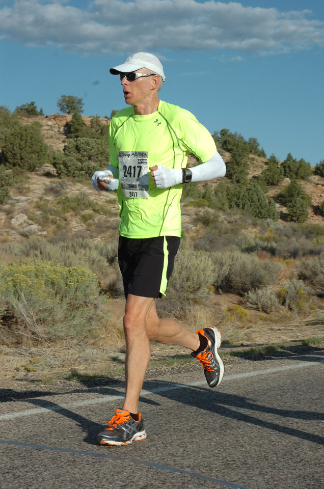 At the St. George Marathon 2011.
