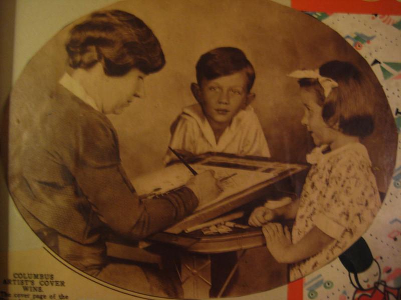 Grandma Fisher, Jack, and mom