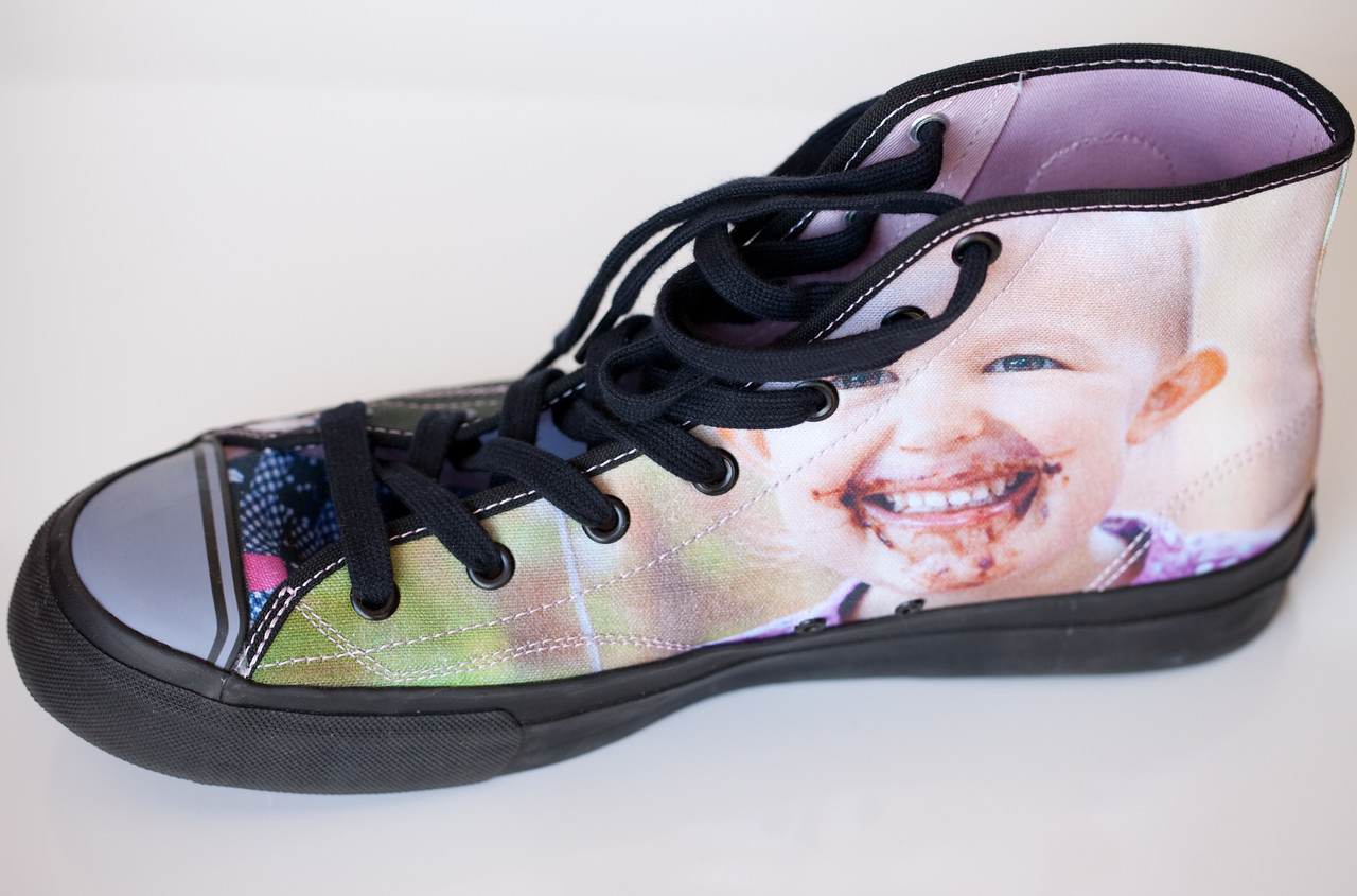 Baldy's new shoes are more fabulous than any you've ever owned!  (They're from Zazzle.)