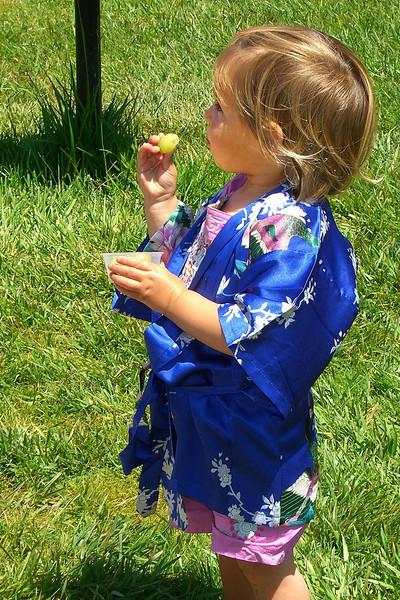 Kimono and green grape