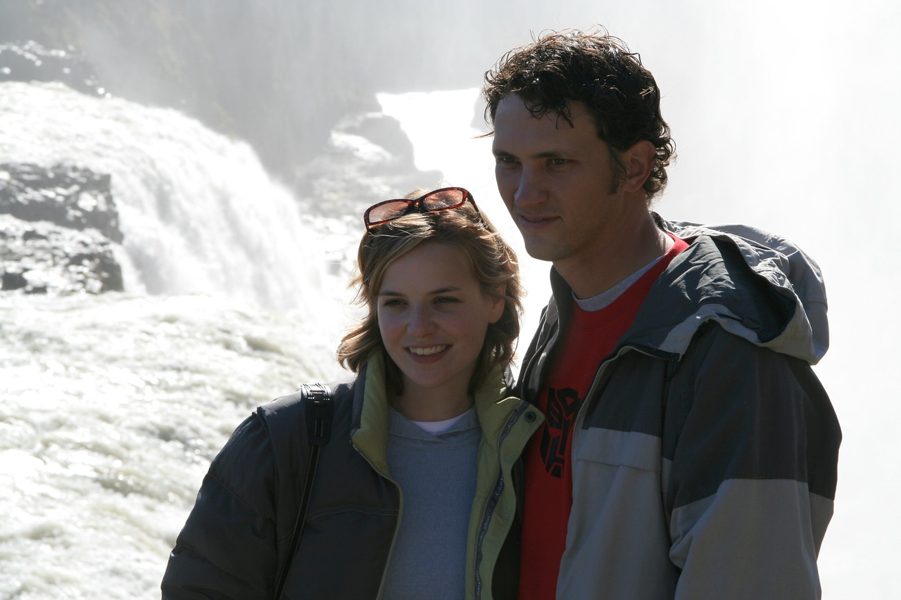 Us at Gulfoss