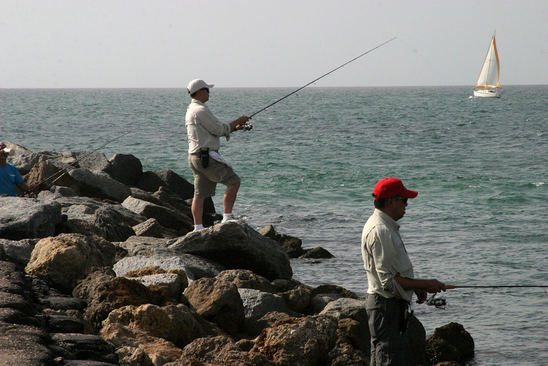 Fishermen at the Jetties. 12/15/07