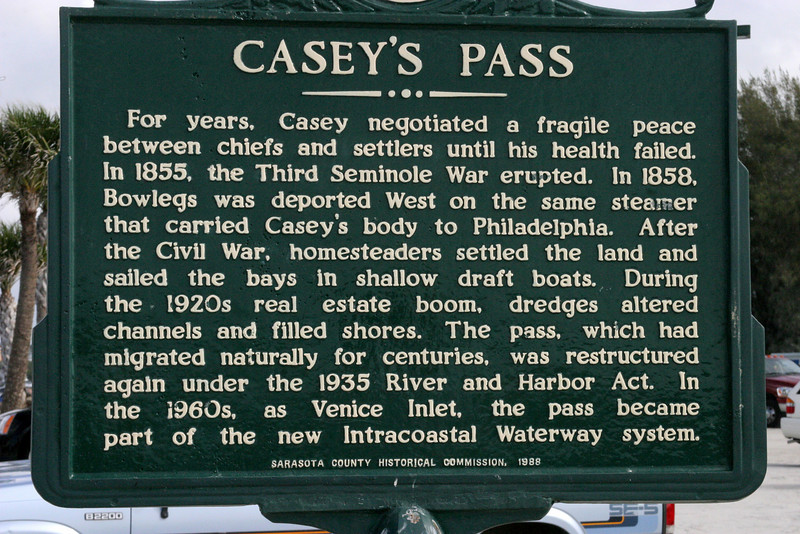 Casey's Key/ Jetties area.  12/15/07