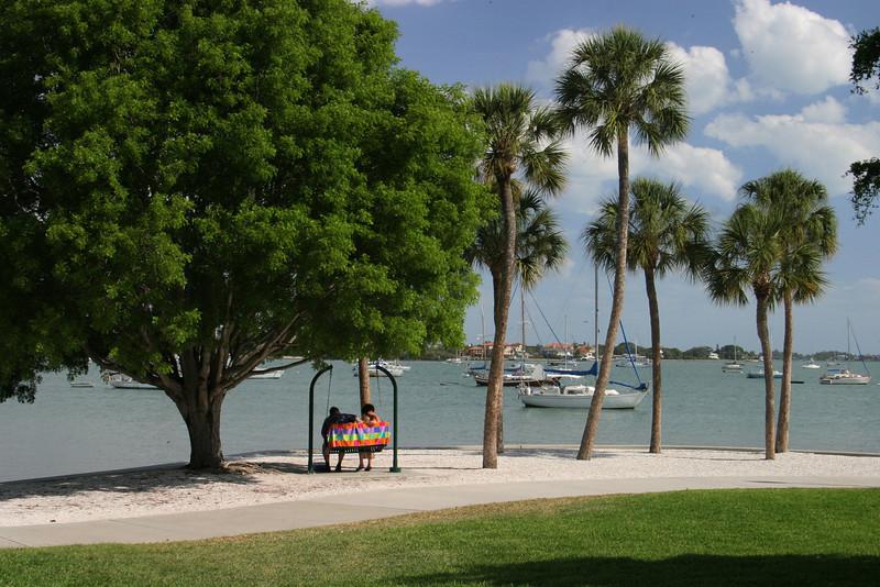 Overlooking Sarasota Bay.  12/15/07