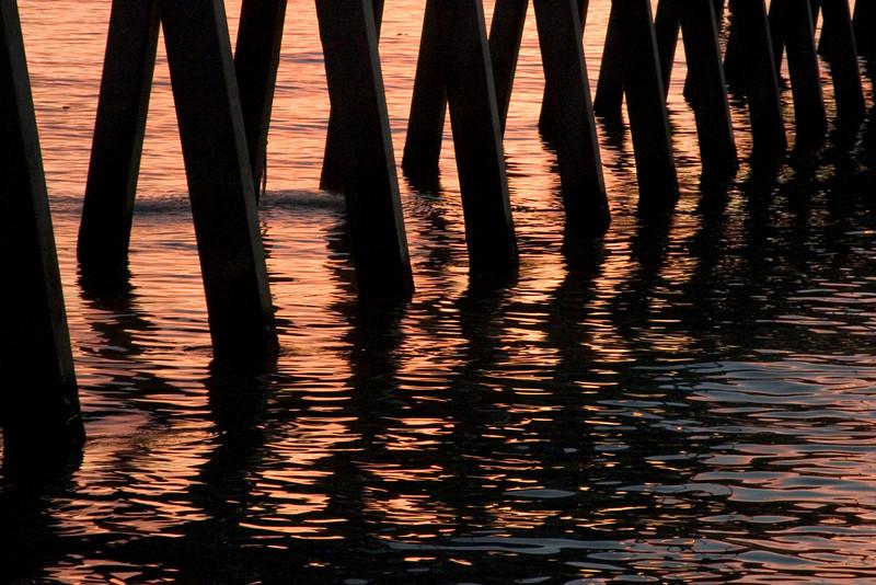Reflections at Sharkies Pier