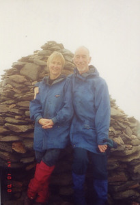 on Coniston Old Man - one of many birthday mountains