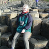 sat on the Giant's Causeway