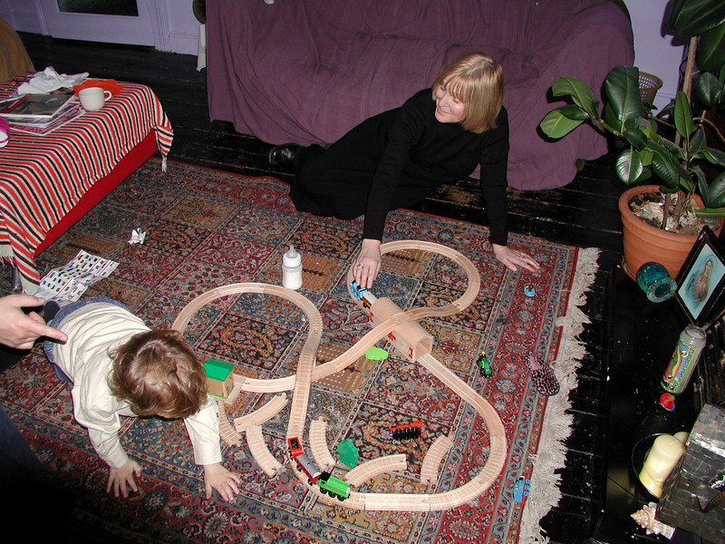 Harvey and Wendy play trains