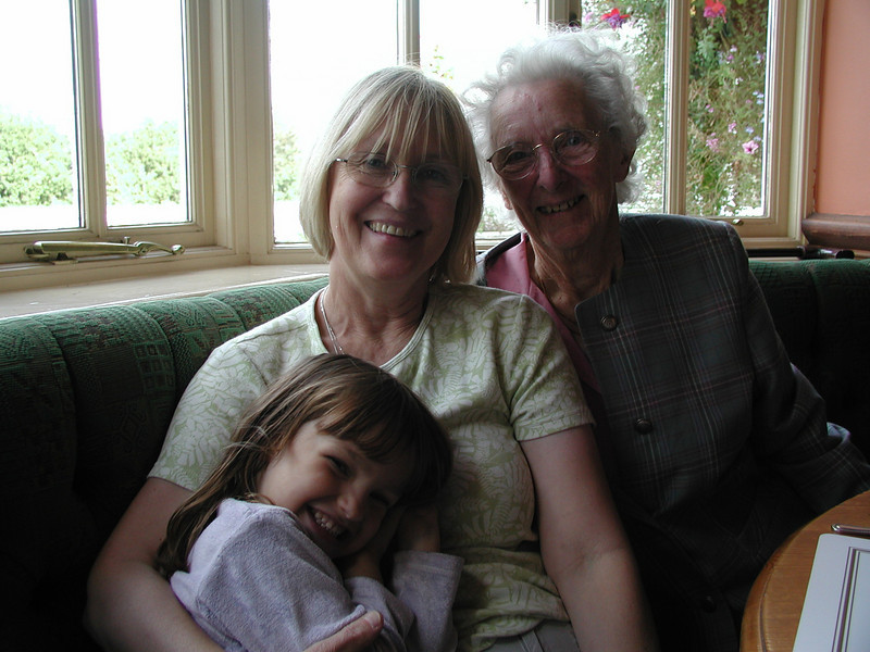 Celia with Granny and Great Granny