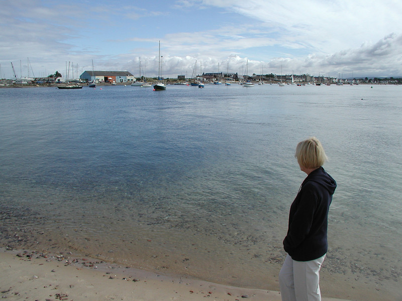 looking across Findhorn Bay