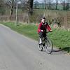 Wendy pedalling hard