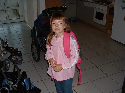 All ready for her first day of school!