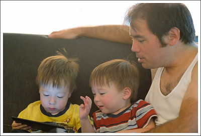 """Playing """"Angry Birds"""" with Papa"""