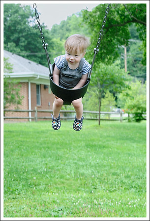 Aiden on the swing.