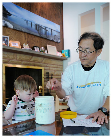 Coloring with Grandpa.