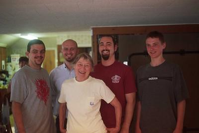 Grandma and tall men (boys?)