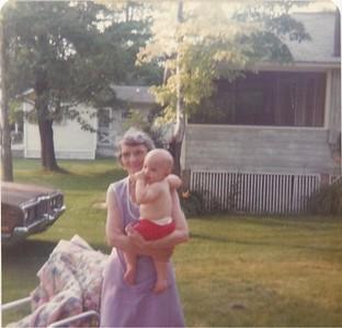 Great grandma Nana and Geoff - summer 1974