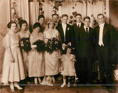 Great Grandma Nana and Great Granpere's Wedding  - early 1920's