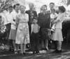 Robert, Marie, Carrie, Louise, Roger, Carol, Cliff, Dick, Helen.  Binder 1939-1955 p.46-03, Group photos Palo Alto, April 14, 1946.