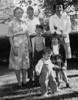 Carrie, Robert, Roger, Dick, Linda, Marie.  Binder 1939-1955 p.46-03, Group photos Palo Alto, April 14, 1946.