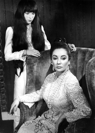 "Mia Farrow & Elizabeth Taylor - they made a movie together titled ""Secret Ceremony"""