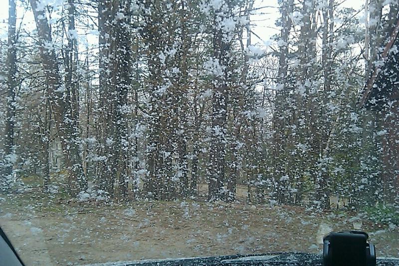 Snowing - April 28th!
